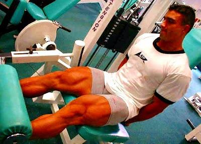 Extensión cuadríceps ejercicio masa muscular