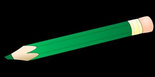 foto matita verde con gomma