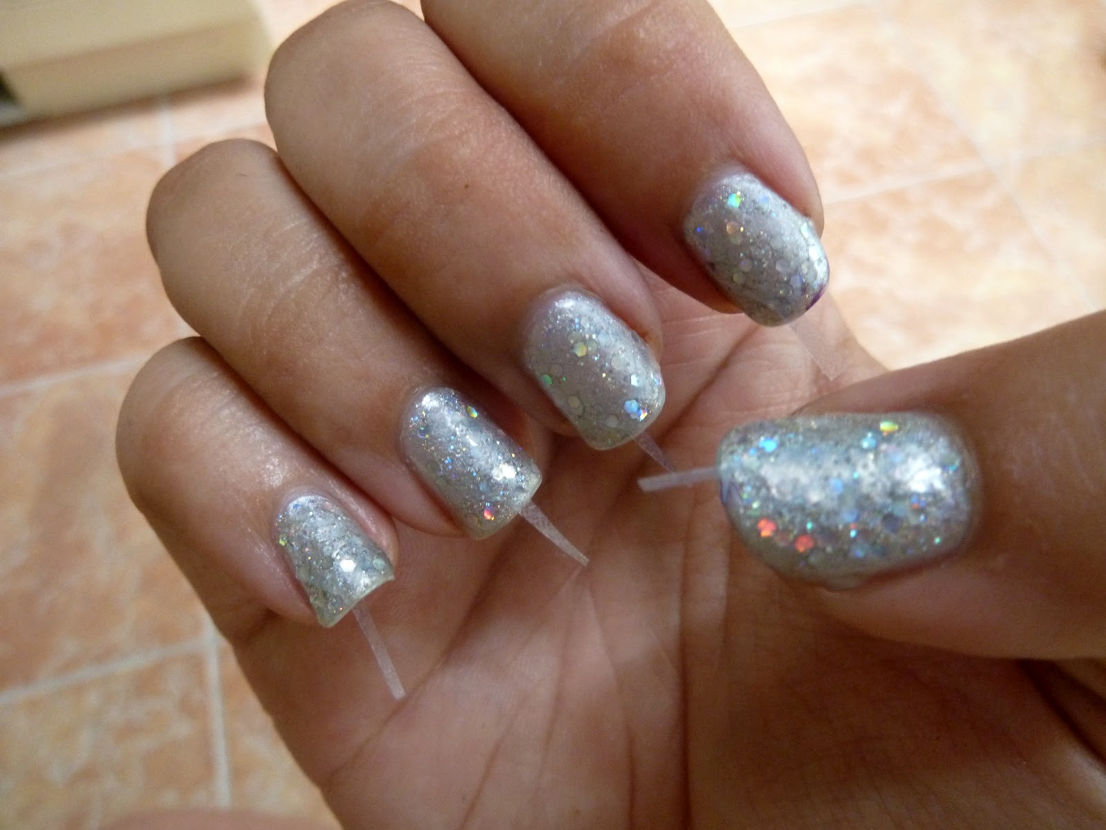 Purple Polish Diamond Manicure
