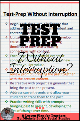 I hated interrupting my lesson plans for standardized test prep. Click to read these tips for continuing your lessons while still meeting your administrations testing expectations.