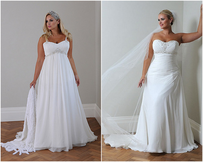 Fashion-Bride: Picks Plus Size Bridal Gowns For The Full
