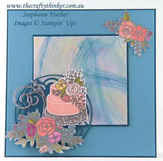 #thecraftythinker, #brusho, #cardmaking, #stampinup, Brusho, Sweet Soiree, Eastern Medallions, Stampin' Up! Australia Demonstrator, Stephanie Fischer, Sydney NSW