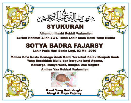 contoh surat undangan tasyakuran dan marhaban bayi harga