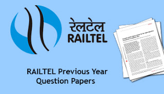 RAILTEL AE Previous Year Question Papers