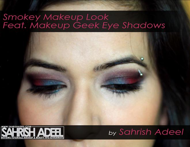 Blue Red Smokey Makeup Look Feat Makeup Geek Eye Shadows