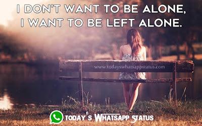 1000+ Alone Whatsapp Status in English