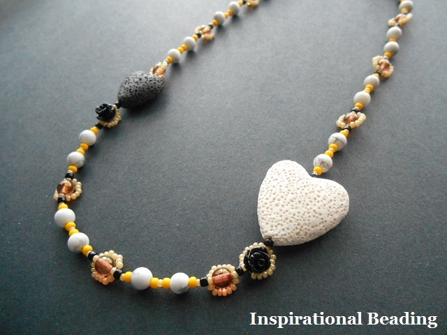Bees Heart Honey Necklace Tutorial