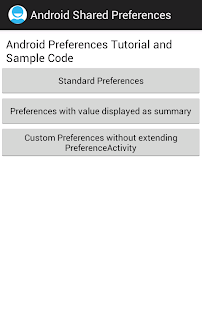 Android Shared Preferences example