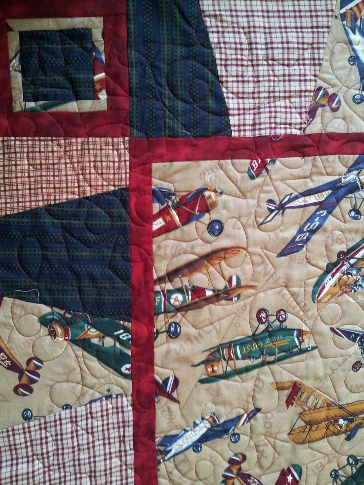 Serena Bean Quilts Antique Airplane Baby Quilts