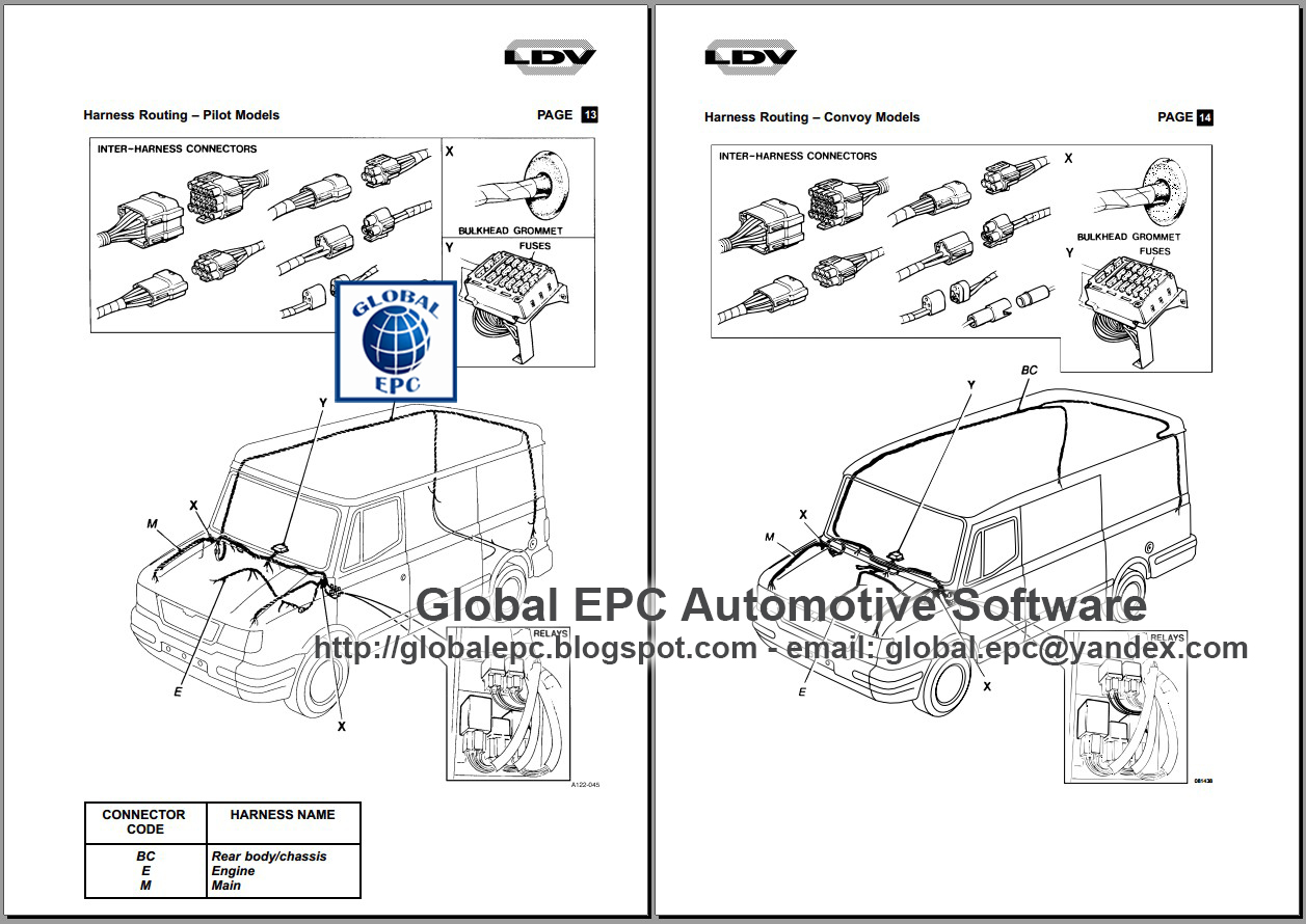 AUTO MOTO REPAIR MANUALS: LDV CONVOY PILOT WORKSHOP REPAIR