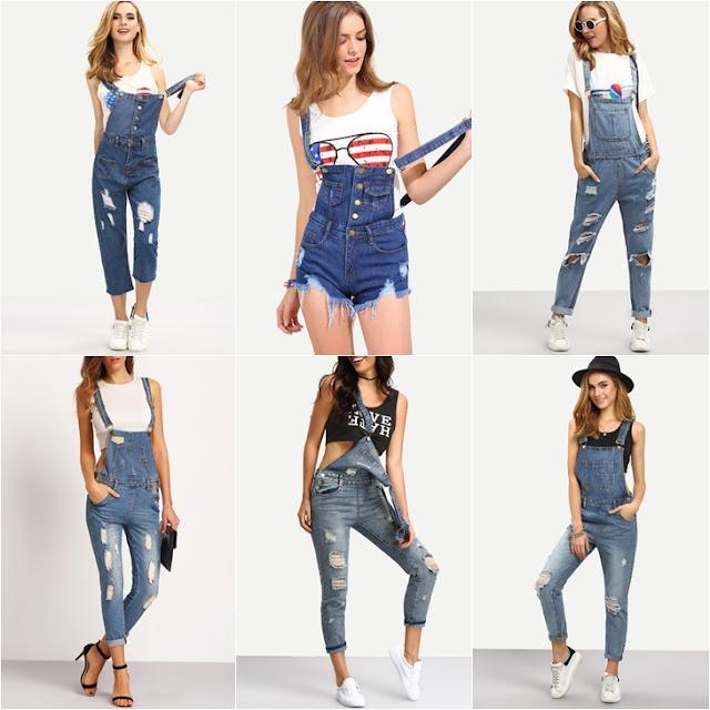 onde comprar Jardineira Jeans