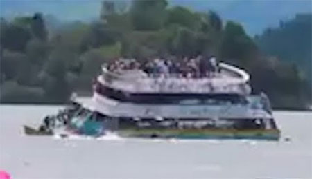 Colombia tourist boat sinks with 150 passengers