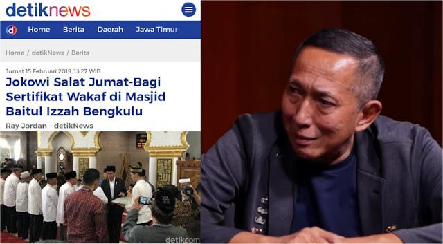 Pertanyaan Menohok JS Prabowo ke Bawaslu soal Jokowi Shalat Jumat-Bagi Sertifikat Wakaf