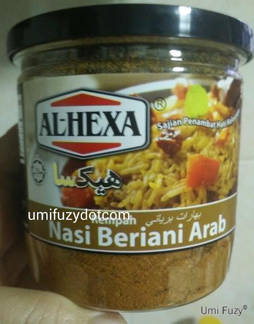 Memasak mudah Nasi Beriani Arab Al Hexa