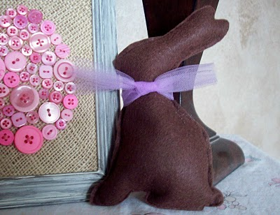 Felt Bunny and Button Egg