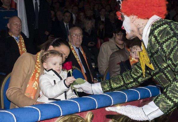 Princess Stephanie, Camille Gottlieb and Pauline Ducruet. Princess Gabriella wore Moncler YVES Long Parka