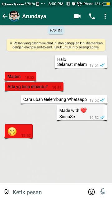 Cara Mengubah Gelembung Whatsapp - 14