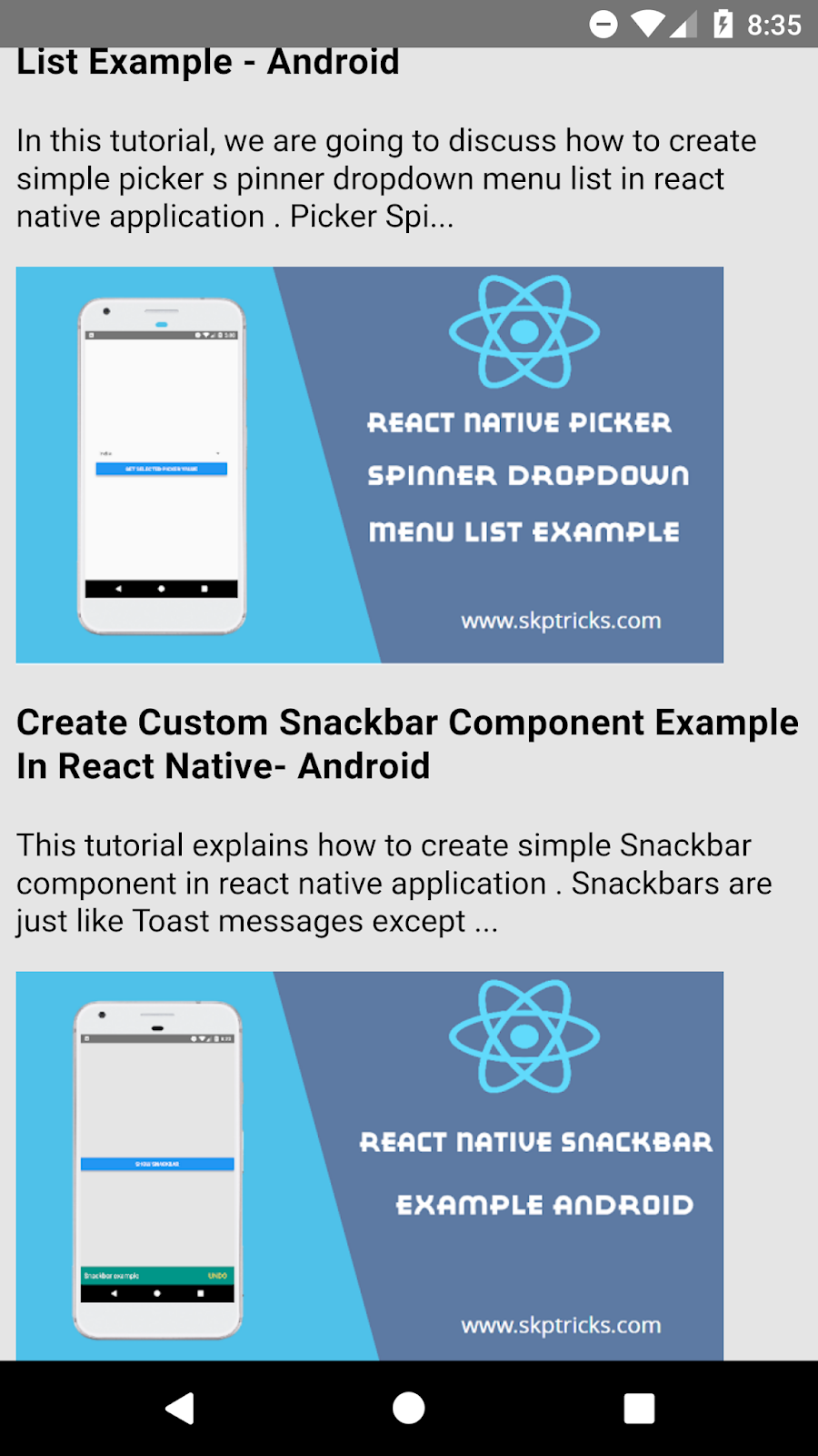 Rendering Raw HTML in your React Native application | SKPTRICKS