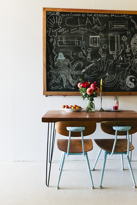 This old school vintage dining room (photo by Nicole Franzen)