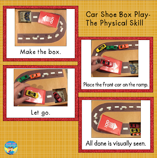 Does your child with autism just line cars up? Read More Shoebox Play - Cars!