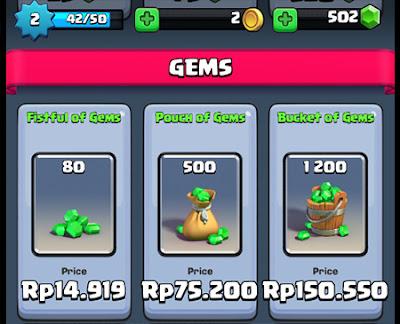 Cara Dapat 1200 Gems Gratis di Clash Royale