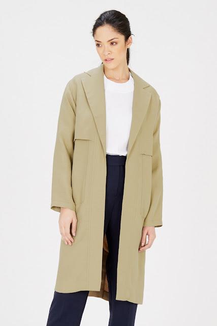 warehouse camel lightweight coat, warehouse camel midi coat, camel lightweight coat, camel linen coat, camel duster coat,
