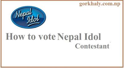 vote nepal idol contestant