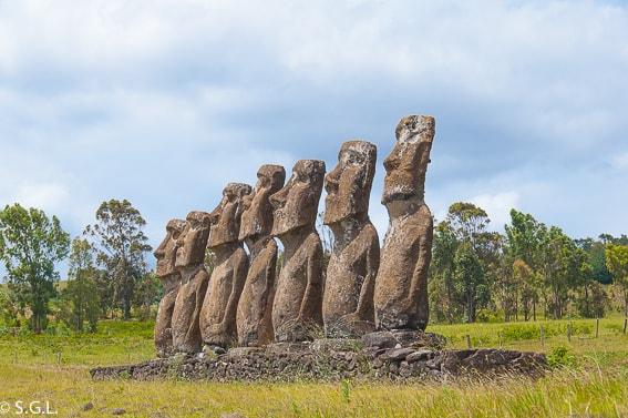 Moai Isla de Pascua. Chile. Destino soñado grandes viajes