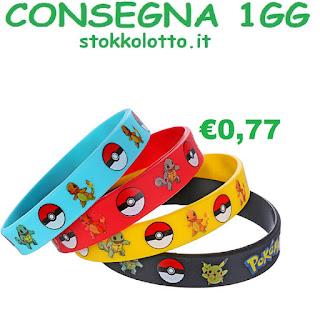 Bracciali braccialetti in silicone personalizzati a tema pokemon go pikachu