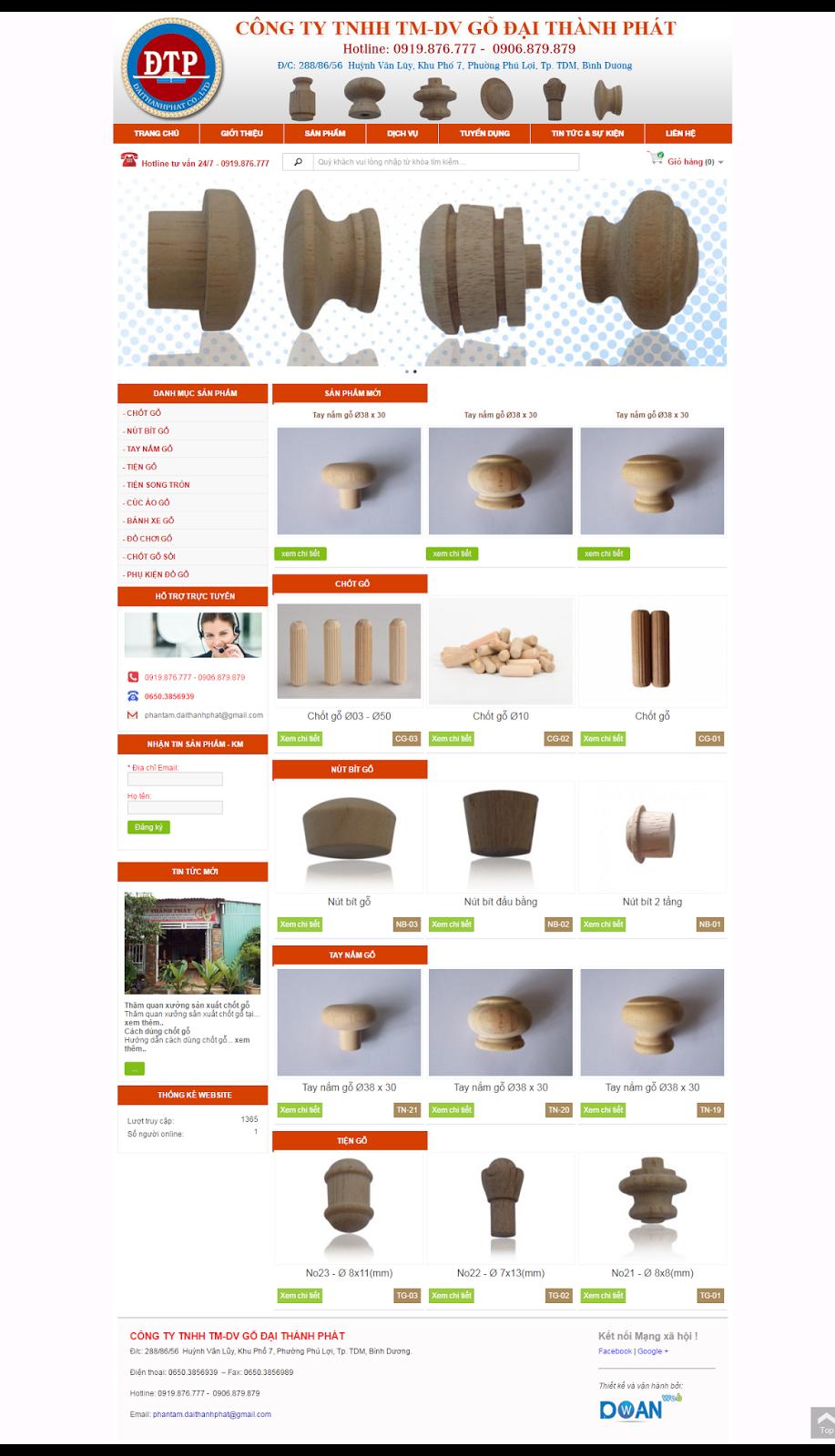 Mẫu web đồ gỗ, nội thất