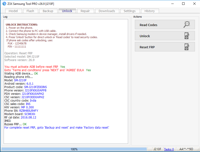 MAA TELECOM: Samsung Sm-j210f FRP RESE 100% Tested BY Gsm tanvir