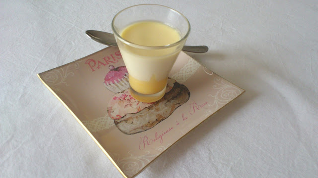 Panna cotta au lemon curd