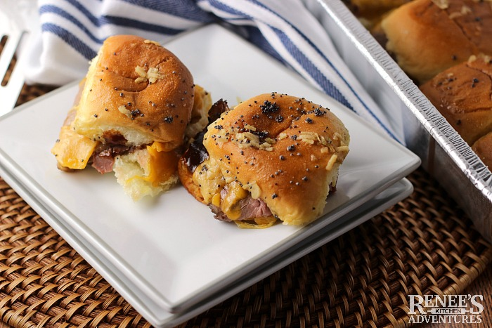 Easy BBQ Beef and Cheddar Sliders - Renee's Kitchen Adventures