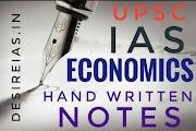 Download hand written Economics  notes - UPSC IAS - Hindi Medium