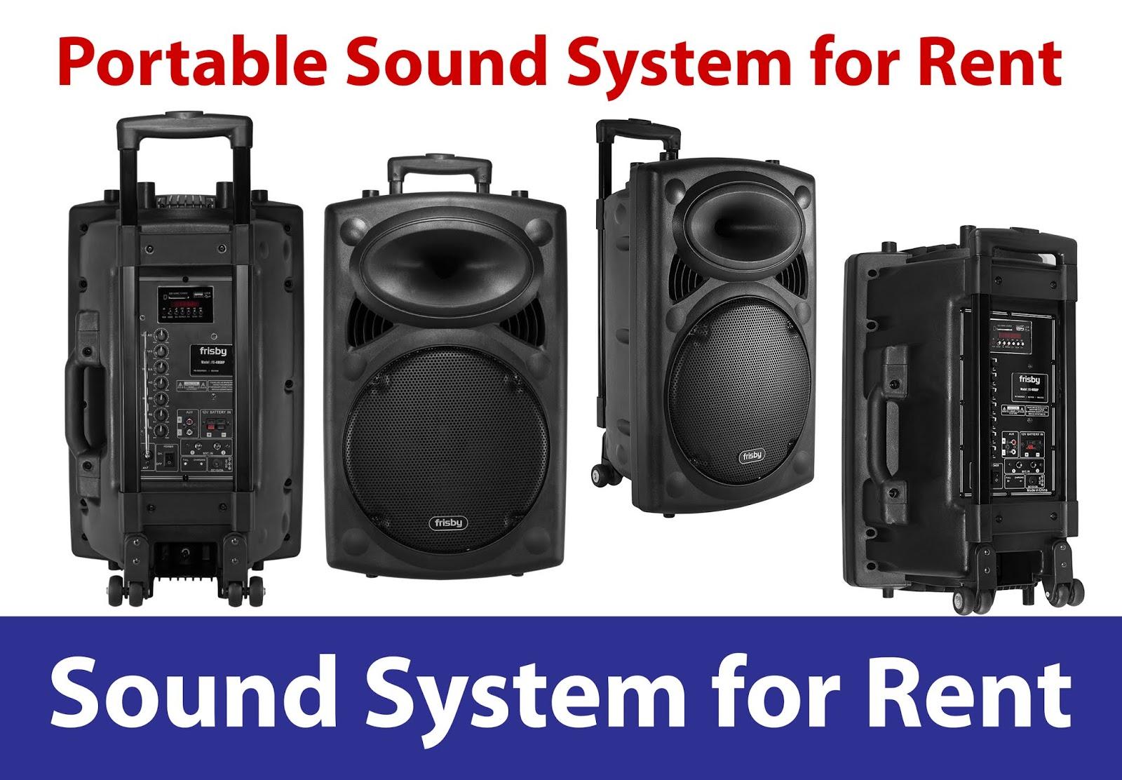 Portable Sound System Rental   Rent Stuffs LK - Party
