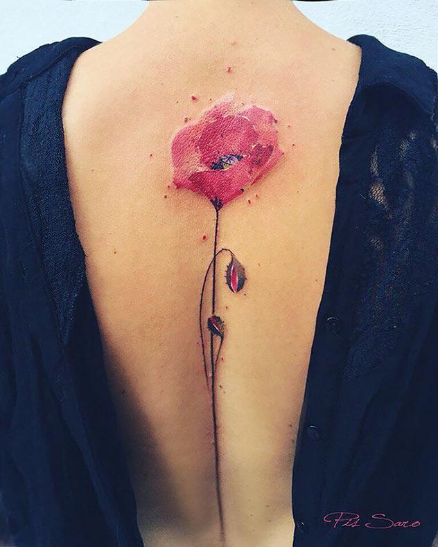 Tatuajes inspirado en la flora de la naturaleza por Pis Saroes