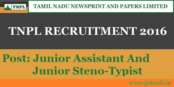 TNPL Careers, TNPL Jobs, Tamil Nadu Government jobs in Chennai