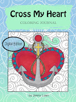 cross my heart coloirng journal by Jenny Luan digital book
