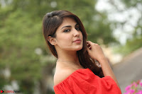 Rhea Chakraborty in Red Crop Top and Denim Shorts Spicy Pics ~  Exclusive 118.JPG