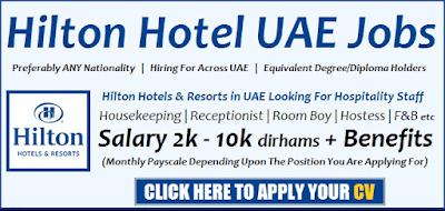 Hotel Jobs In Dubai Abu Dhabi Hilton Careers 2019 Walk In