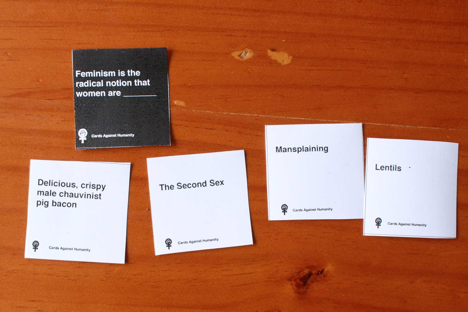 photograph relating to Cards Against Humanity Printable referred to as Feminist Playing cards In opposition to Humanity ~ Rachel Rayner