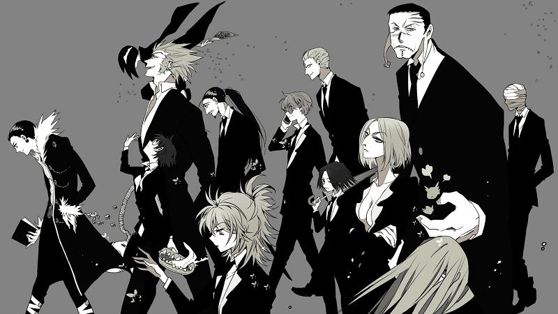 phantom troupe berisikan 13 anggota yang berasal dari ryusegai