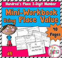 Mini Workbook using Place Value 3 Digit Numbers