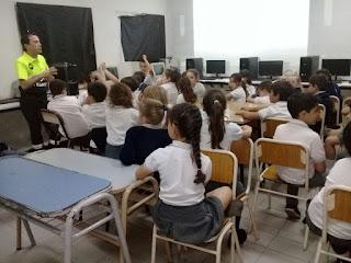 Educación vial en escuelas de la ciudad