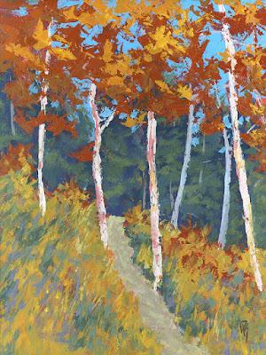 art painting landscape mountain nature autumn fall foliage