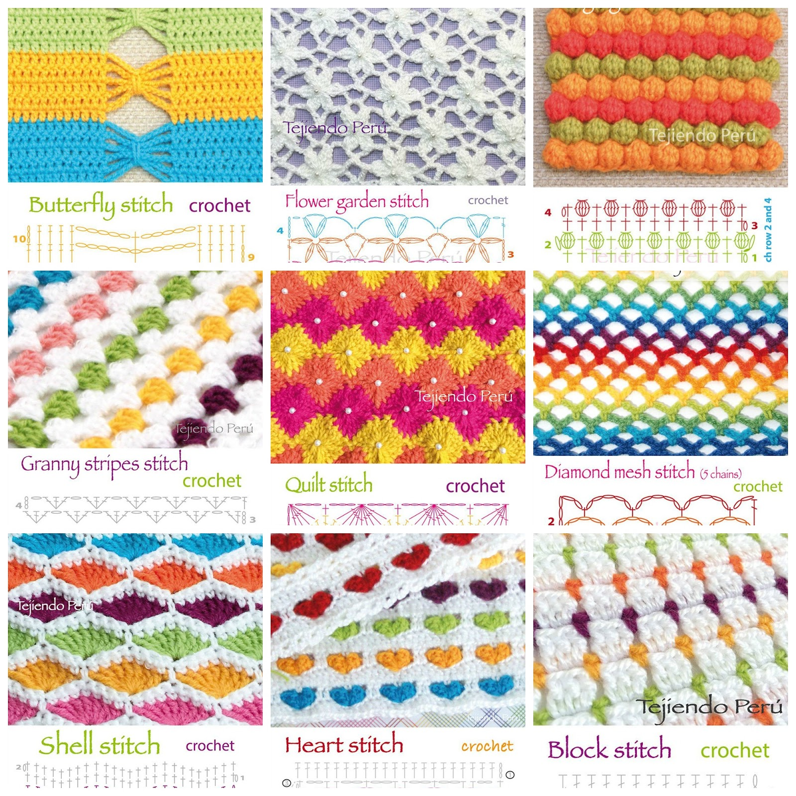 Crochet Stitches Australia : Crochet Stitches + Diagrams