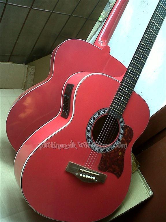 pitchgitar jual gitar jakarta dan kudus Gitar Akustik Pink