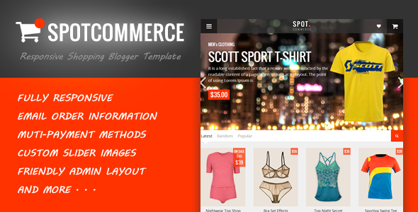 SpotCommerce Blogger E-Commerce Template