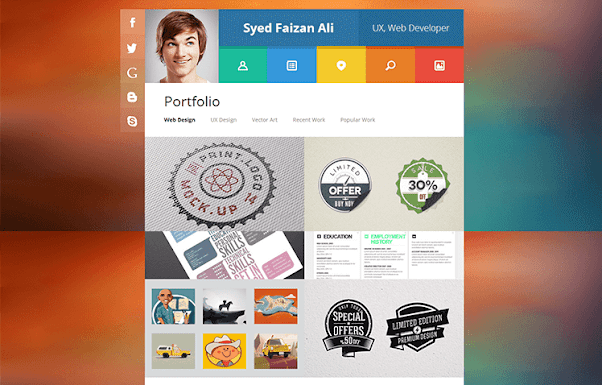 VCard Free Blogger Template