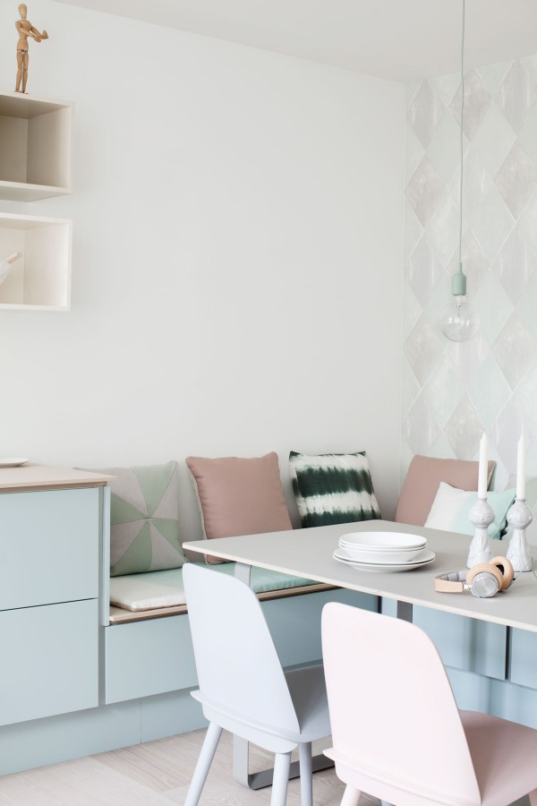 No solo moda una cocina en colores pastel ministry of deco - Bank keuken ...